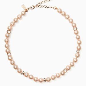 Kate Spade Pearl & Jewel Necklace NWT!! Rose Gold!